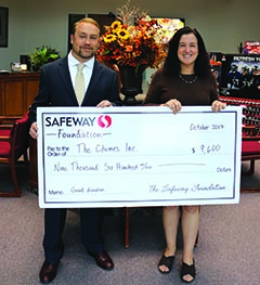 Chimes receives Grant - Safeway Foundation - Chimes