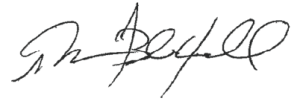 Terry Blackwell signature